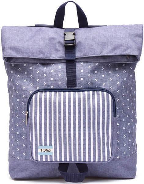 TOMS Chambray Diamond Stripe Printed Backpack