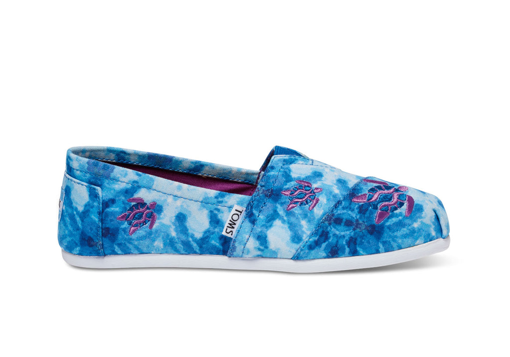 Toms Watercolour Turtle Womens Classics