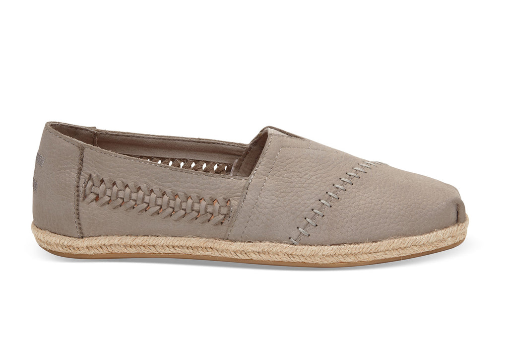 Toms Drizzle Grey Nubuck Espadrille