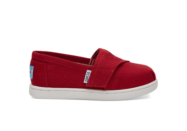 TOMS Red Canvas Tiny Classic