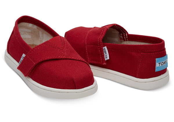Toms Red Canvas Tiny Alpargata***