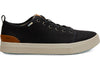 Toms Black Heritage Canvas Mens Trvl Lite Low Sneaker