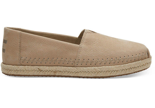 Toms Stone Brown Nubuck Womens Espadrilles