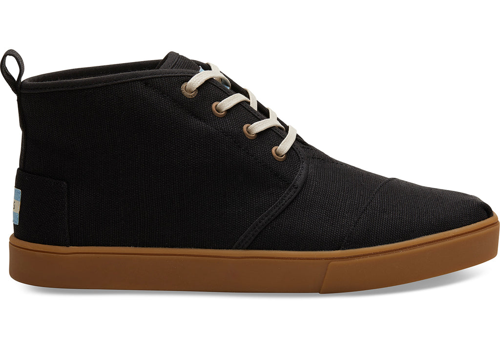Toms Black Heritage Canvas Cupsole Mens Botas