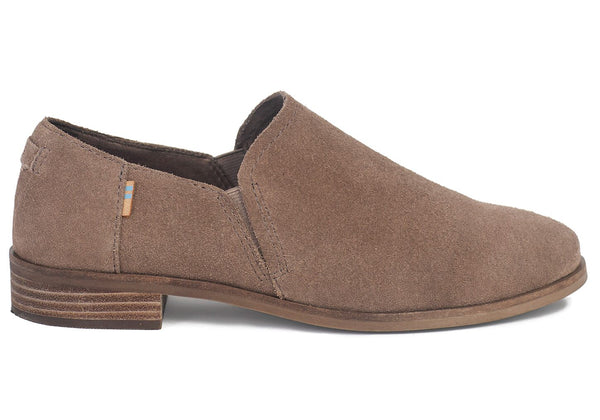 TOMS Taupe Gray Suede Womens Shaye Low Boots