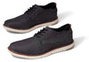 TOMS Mens Black Denim Oxford Shoes