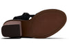 TOMS Black Suede Vegetable Tanned Leather Womens Majorca Sandals