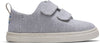 TOMS Tiny Lenny Double Strap Sneaker Grey Chambray