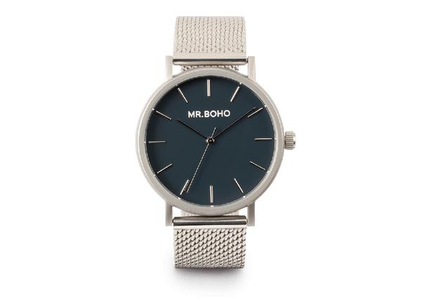 Mr Boho Metallic Cadet Iron Blue Watch