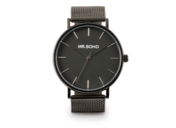 Mr Boho Metallic Classic Jet Watch