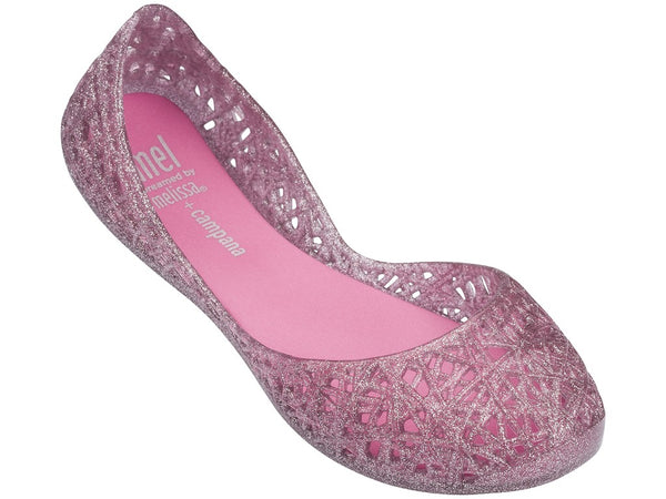 Melissa Youth Campana Light Pink Glitter