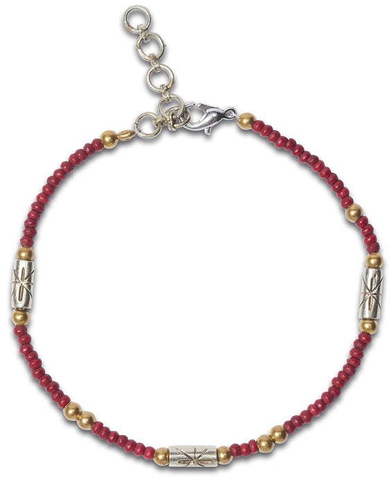 NOOSA Amsterdam Raw Romance Circle of Life Beads Bracelet