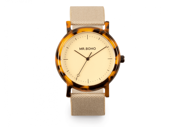 Mr Boho Acetate Champagne Flecked Watch