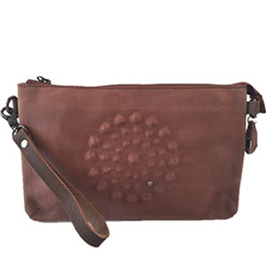 NOOSA Amsterdam Divali Artwork Medium Bag Mid Brown