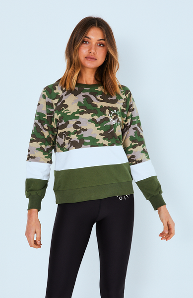 Cartel & Willow Splice Sweater Army