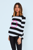 Cartel & Willow Orbit Long Sleeve Stripe With Pink