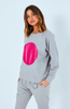 Cartel & Willow Skyler Spot Sweater Fuchsia