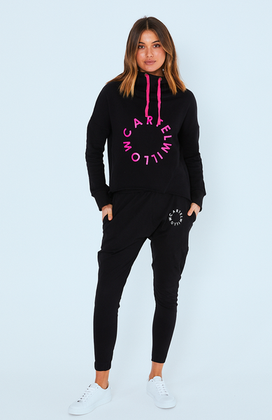 Cartel & Willow York Hooded Jumper Black Orbit (PRE ORDER)