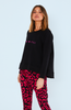 Cartel & Willow Haven Logo Sweater Fuchsia Logo