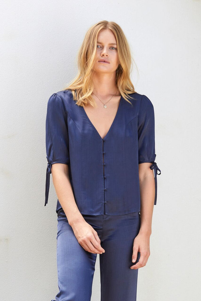 Auguste Midnight Luxe Blouse