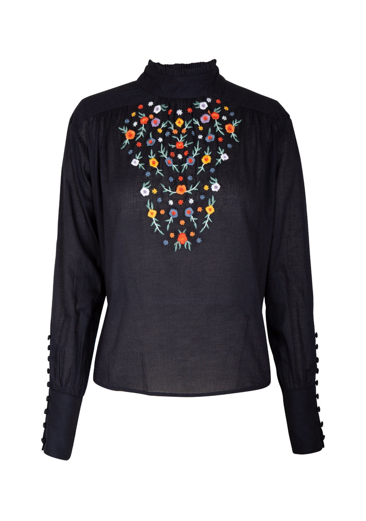 Auguste Twiggy Embroided High Neck Blouse