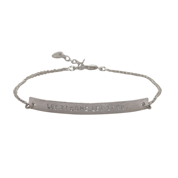 A Beautiful Story - Flow Let It Go Silver Bracelet