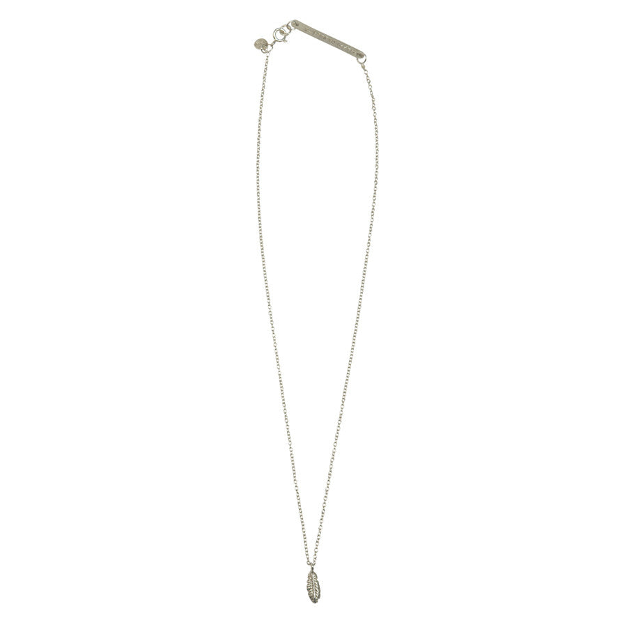 Flow Feather Silver Necklace