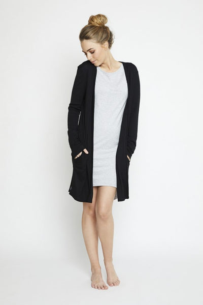 Annukka Merino Wool Brooklyn Cardigan Black