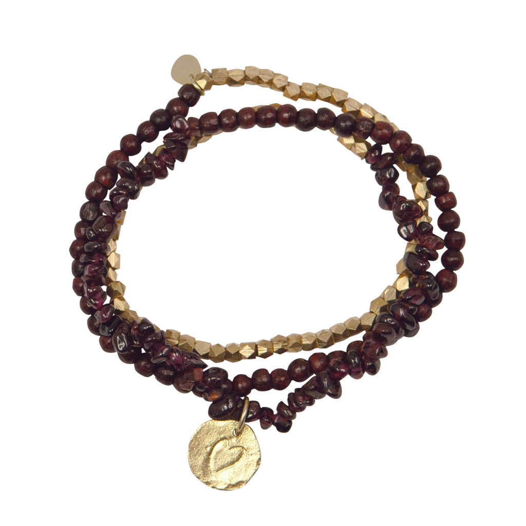 A Beautiful Story - Flair Garnet Gold Bracelet