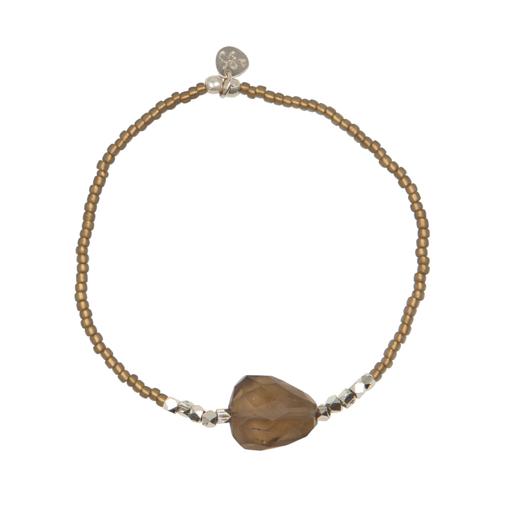 A Beautiful Story - Joy Smokey Quartz Silver Bracelet