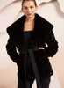 Bubish Delilah Faux Fur Coat Black