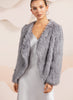 Bubish Soho Cropped Fur Jacket Dusty Blue