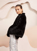 Bubish Valencia Faux Fur Jacket Black