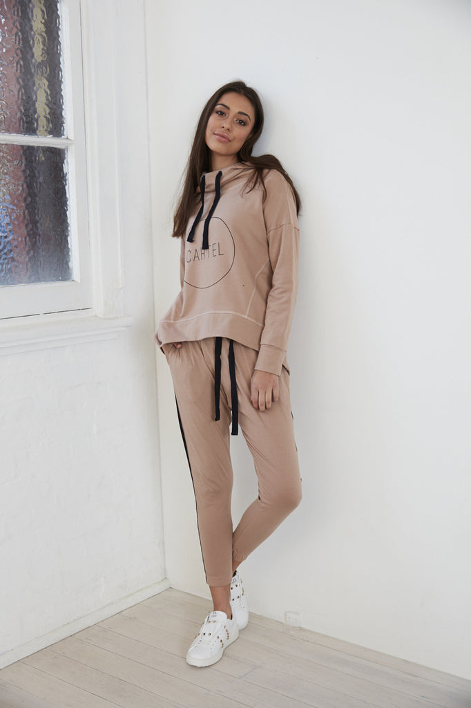 Cartel & Willow Sage Hooded Blush Jumper