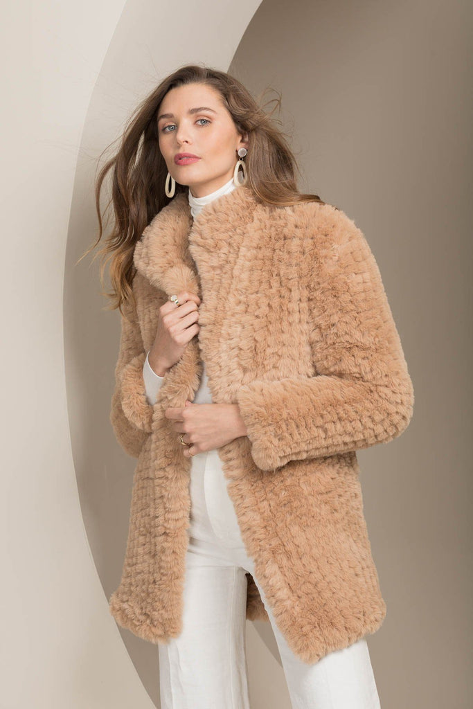 Bubish Faux Chicago 3/4 Coat Beige