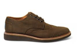 Toms Chocolate Aviator Twill Brogues