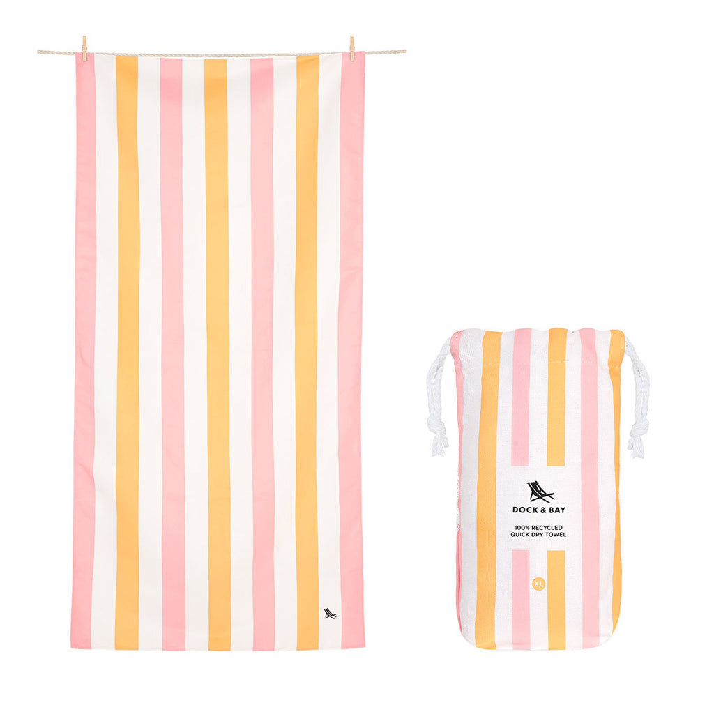 Dock & Bay Beach Towel XL Peach Sorbet
