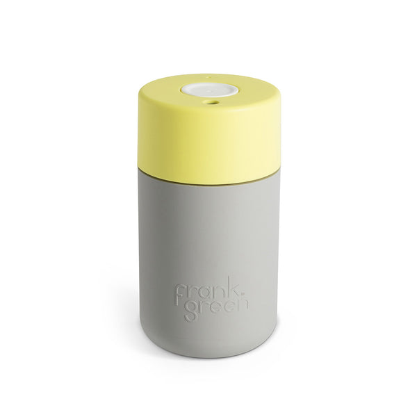 Frank Green Smart Cup 12oz - Cool Grey/Pale Yellow/White