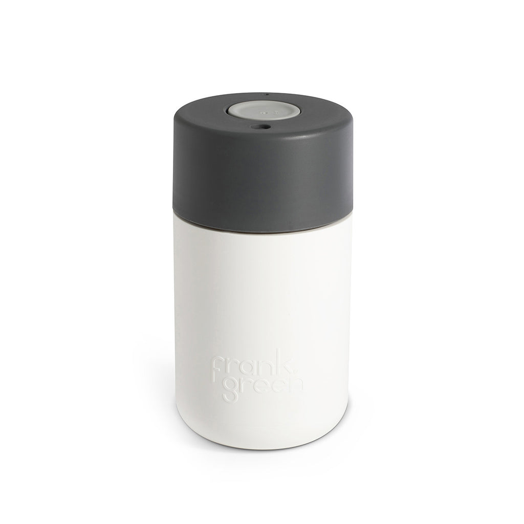 Frank Green Smart Cup 12oz - White/Titanium/Cool Grey