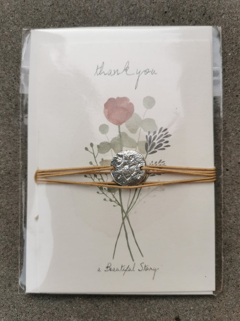 ABS Jewelry Postcard Flowers