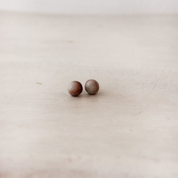 Woodfolk Natural Porcelain Antique Studs