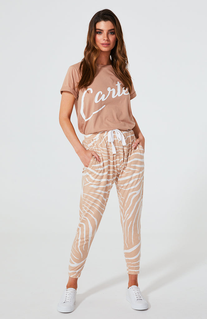 Cartel & Willow Kenji Comeback Pants Blush Zebra
