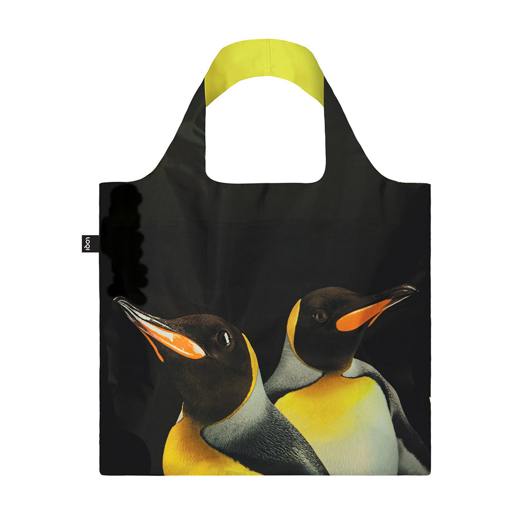 LOQI Reusable Shopping Bag King Penguins