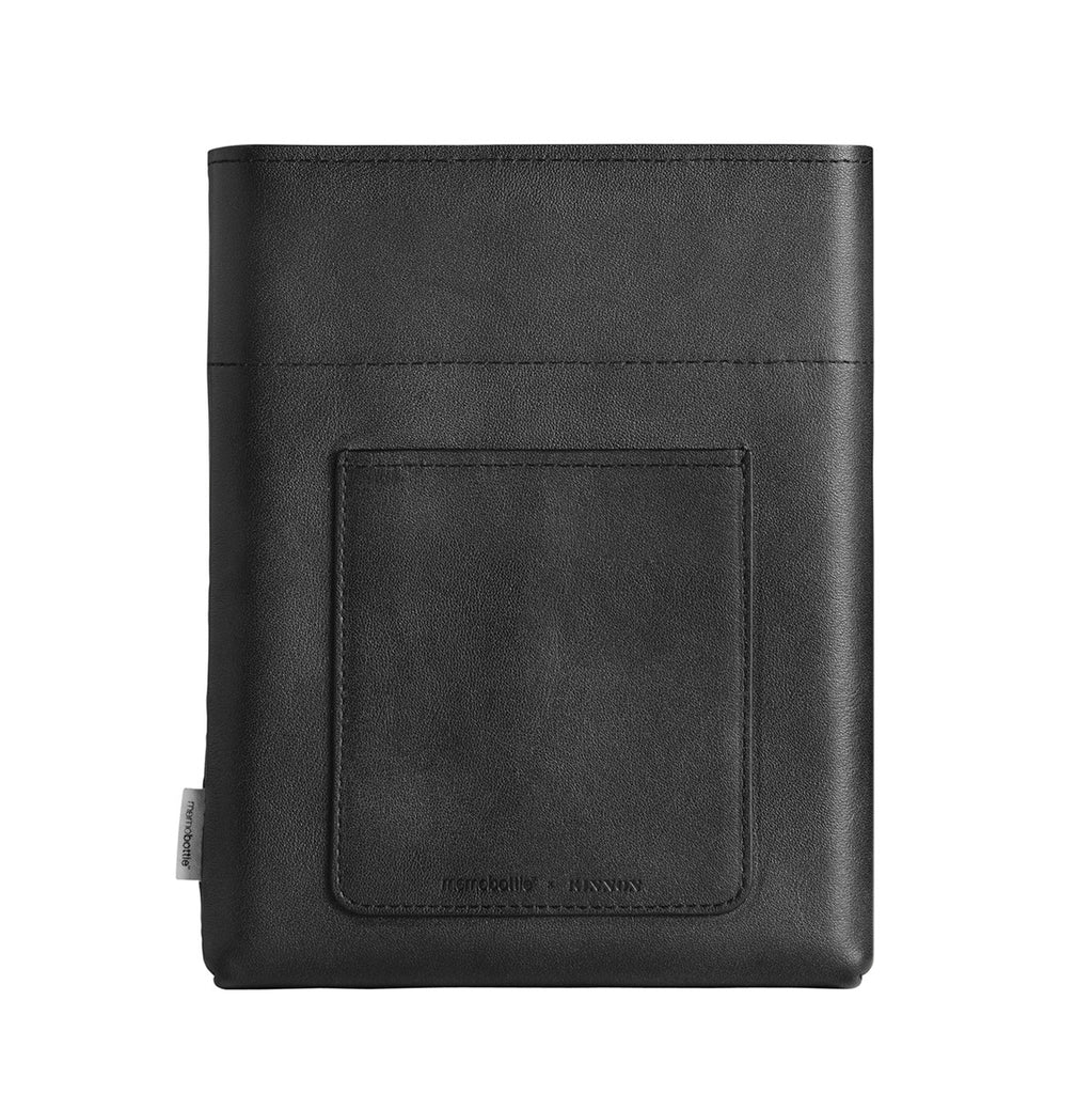 Leather Black Sleeve for A5 Memobottle