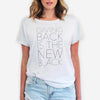 Half United Giving Back is the New Black T Shirt - WHITE