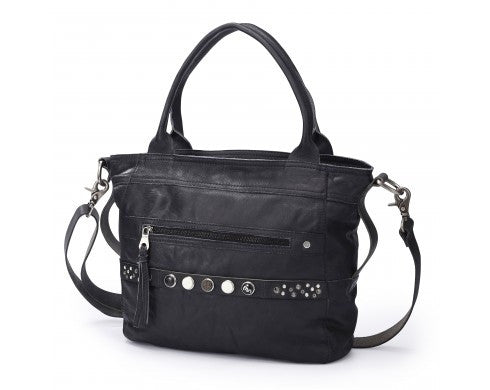 NOOSA Antique Black Bag Classic Shopper
