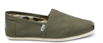 Toms Olive Mens Canvas