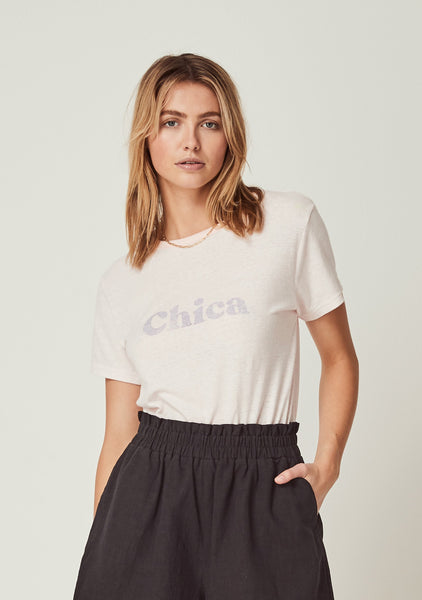 Augsute Chica Tee Pale Pink
