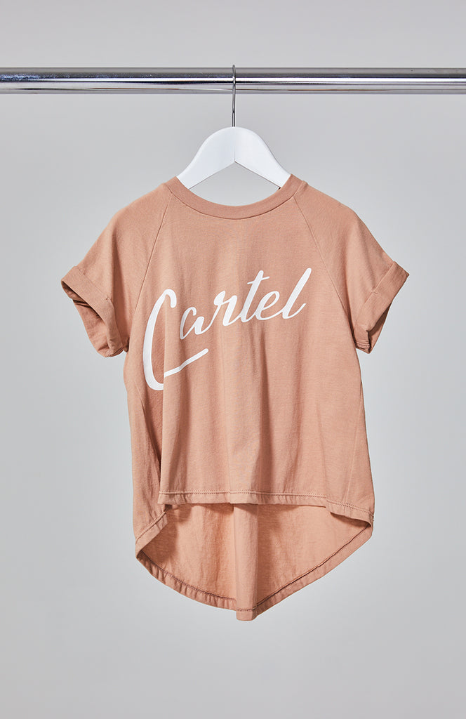 Cartel & Willow Kids Logo Tee Blush/White