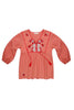 Foundling Tainted Love Embroidered Blouse Ochre